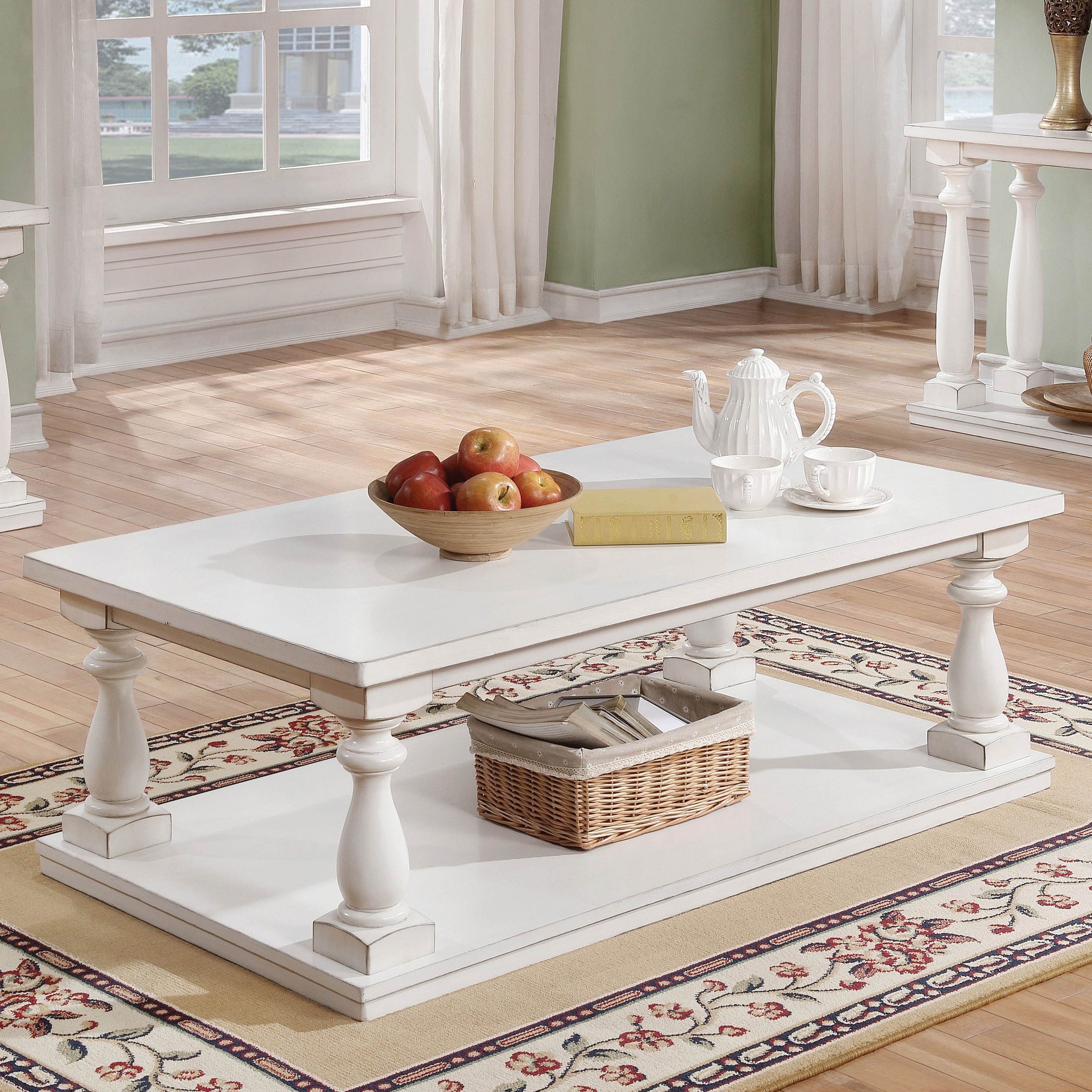 Newest Jessa Rustic Country 54 Inch Coffee Tables Inside Jessa Rustic Country 54 Inch Coffee Tablefoa (View 6 of 20)