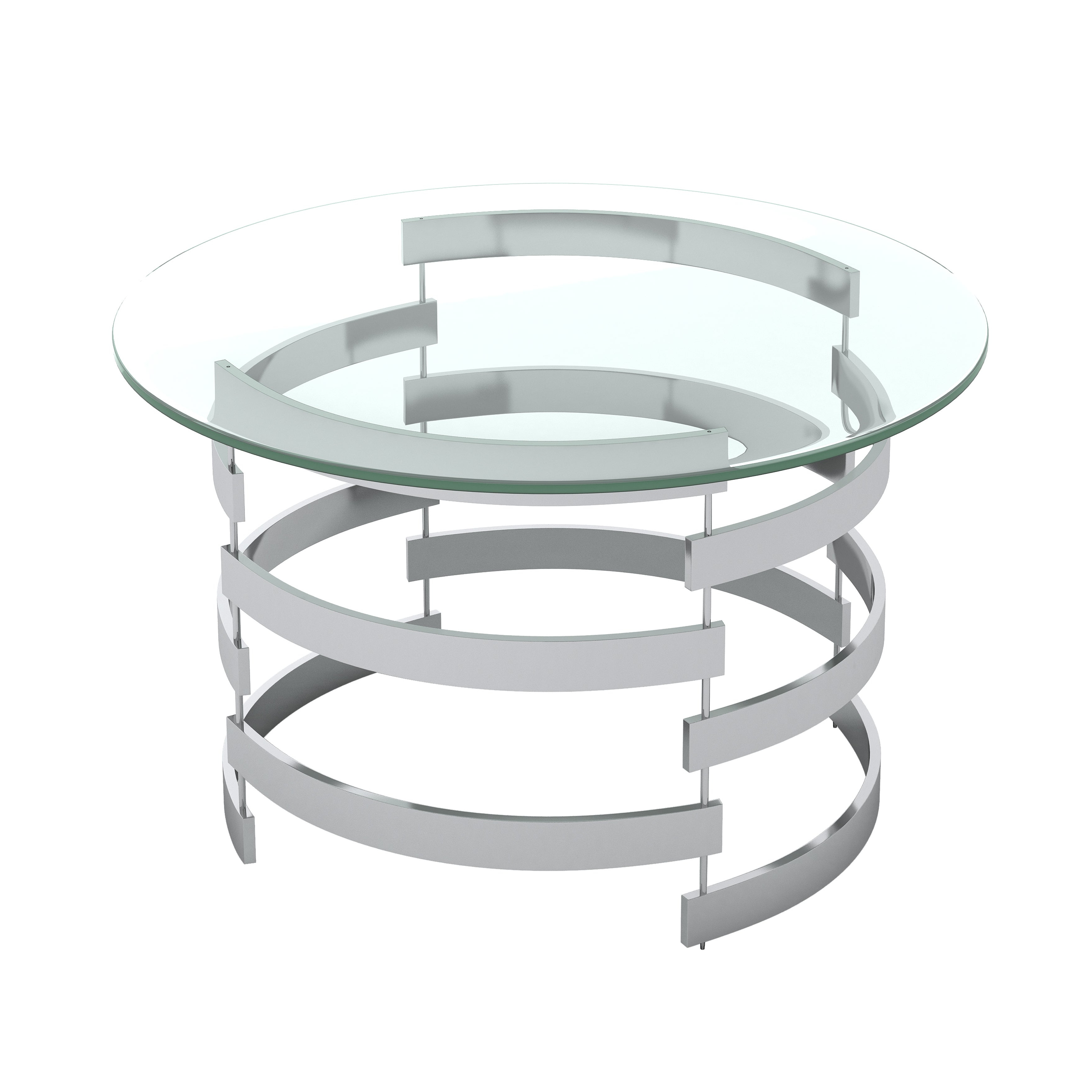 Newest Silver Orchid Bardeen Round Coffee Tables Pertaining To Silver Orchid Bardeen Round Coffee Table (View 2 of 20)
