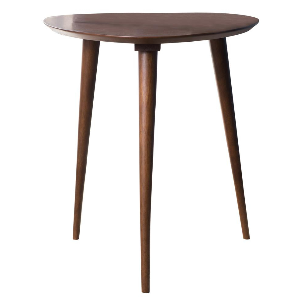 Noble House Corey Walnut Finish End Table 10822 – The Home Depot For Most Popular Corey Rustic Brown Accent Tables (View 15 of 20)