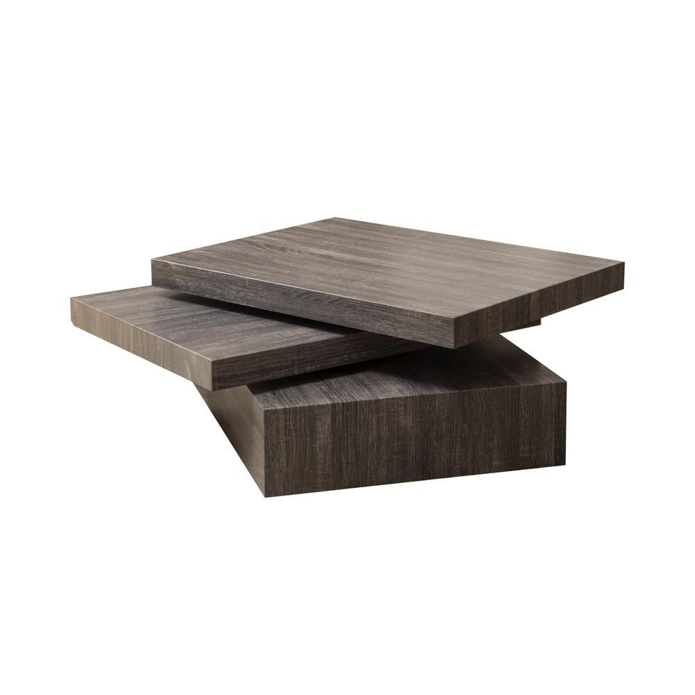 Noble House Sammy Black Rectangular Modernesque Rotatable Intended For Most Recent Safavieh Anwen Geometric Wood Coffee Tables (View 10 of 20)