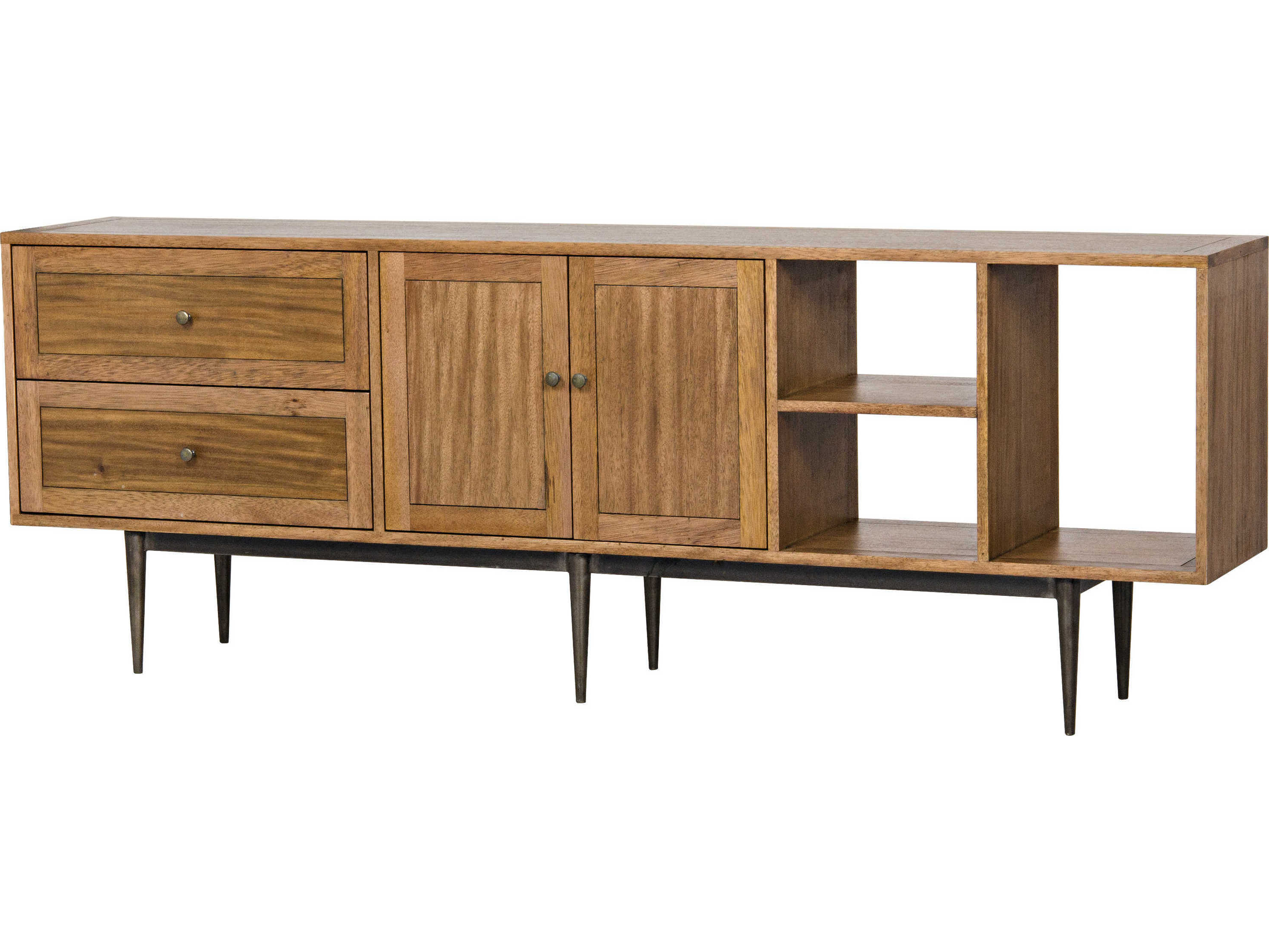Noir Furniture Kananga Walnut & Metal 84'' X 15'' Sideboard With Regard To Melange Brockton Sideboards (View 18 of 20)