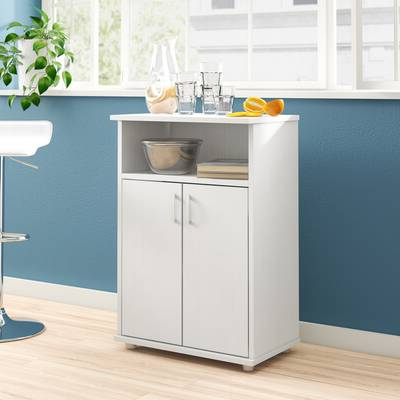 """Oconto Kitchen Pantry In Most Recently Released Wrought Studio Girard 72"""" Refrigerator Kitchen Pantry (View 10 of 20)"""