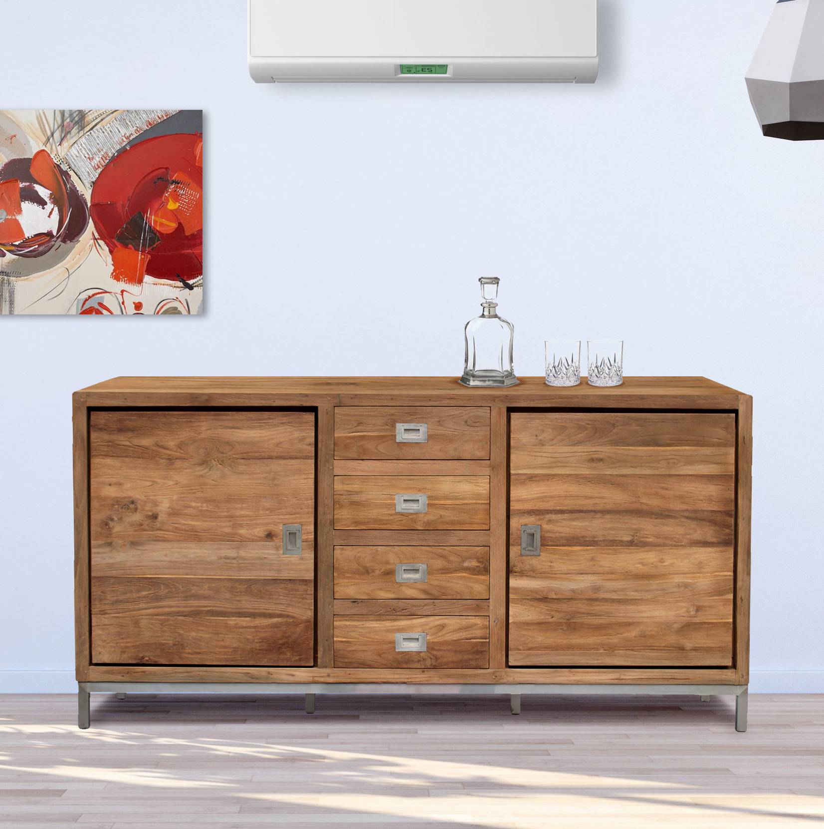 Outdoor Patio Buffet Sideboard | Wayfair Intended For Mcdonnell Sideboards (View 16 of 20)