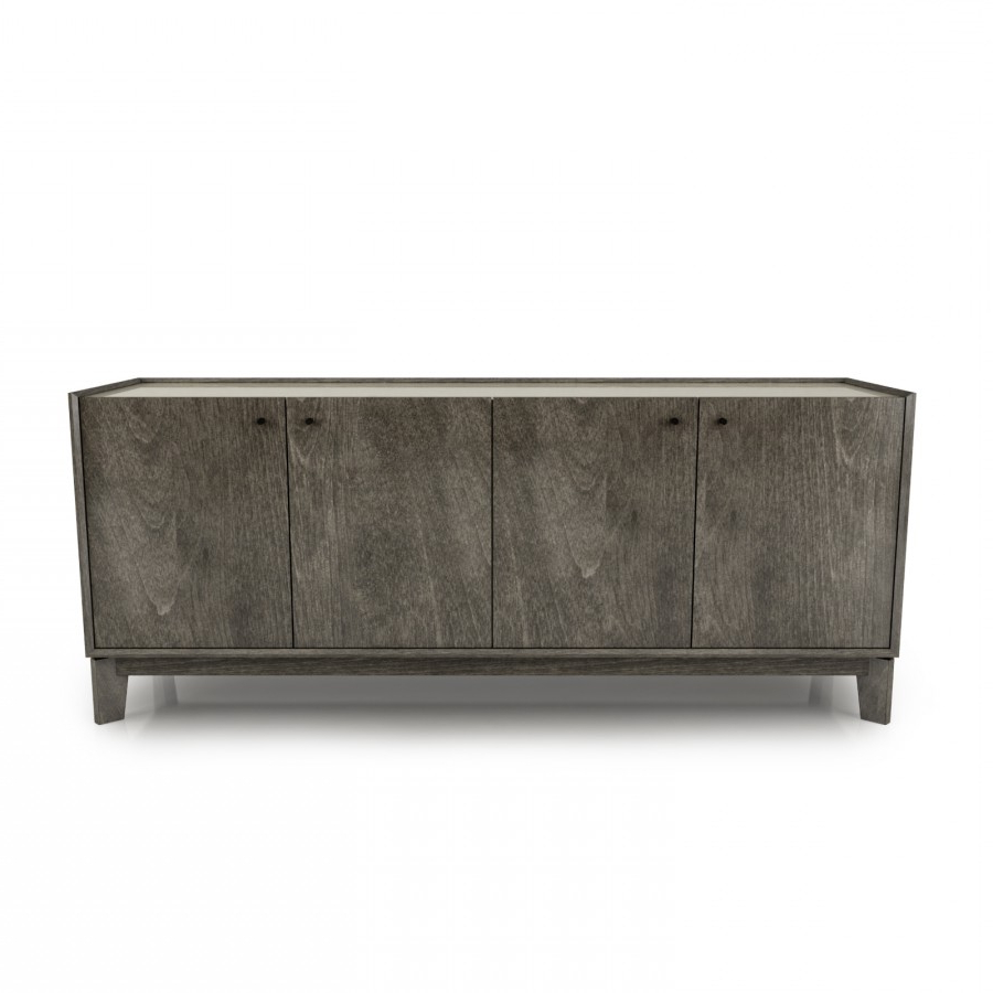 Outline 72'' Sideboard With Laquered Glass Top Inside Metro Sideboards (View 17 of 20)