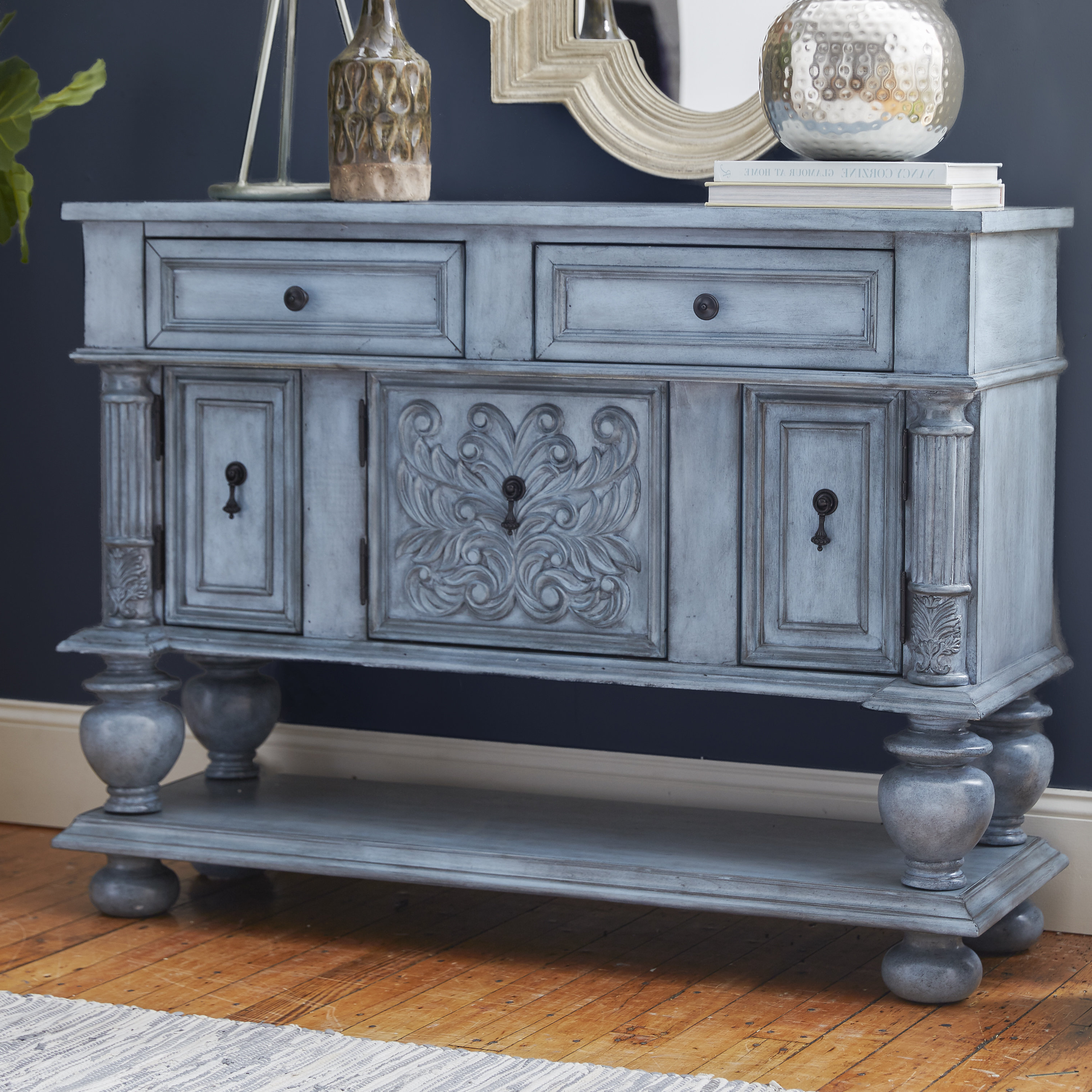 Overbeck Server With Giulia 3 Drawer Credenzas (View 18 of 20)