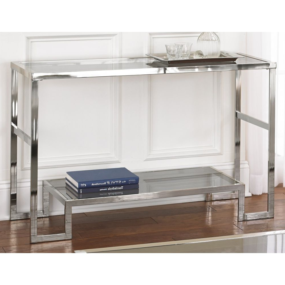 Overstock Shopping Pertaining To Widely Used Strick & Bolton Jules Chrome And Glass Coffee Tables (View 12 of 20)