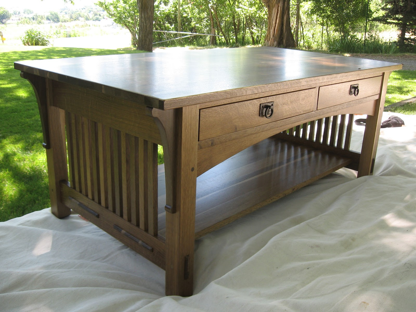 Oxford Woodworks, Llc: Mission Style Coffee Table With Drawers Pertaining To Widely Used Mission Walnut Coffee Tables (View 11 of 20)