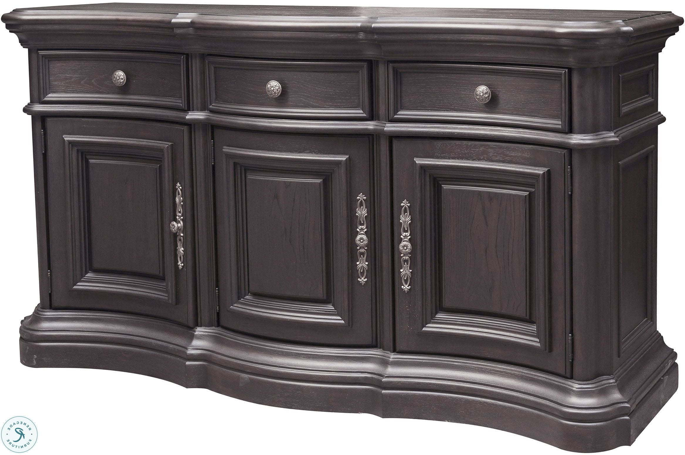 Palisade Distressed Dark Brown Extendable Double Pedestal Dining Room Set Intended For Palisade Sideboards (View 6 of 20)