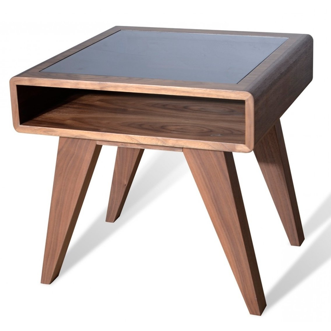 Petite Nova Domus Mid Century Walnut End Table, Brown With Regard To Preferred Strick & Bolton Totte O Shaped Coffee Tables (View 10 of 20)