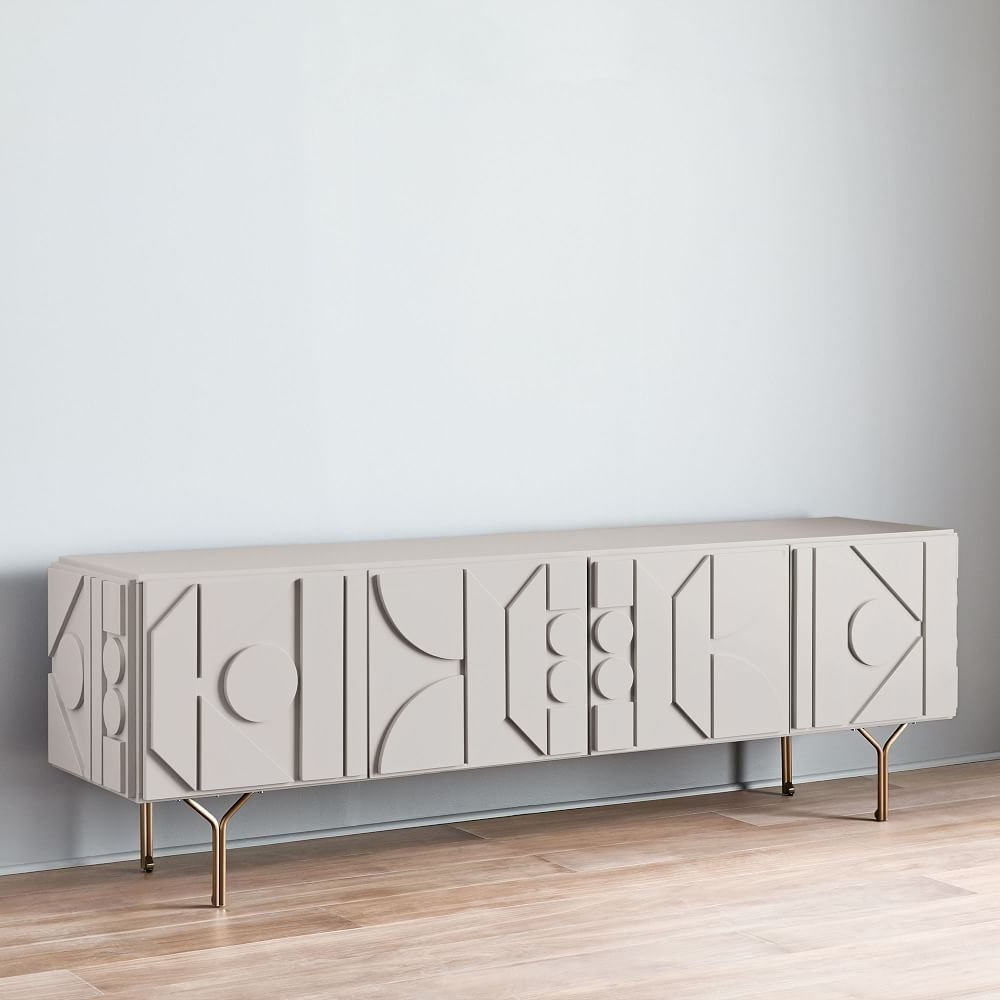 "Pictograph Media Console (84"") – Flax 