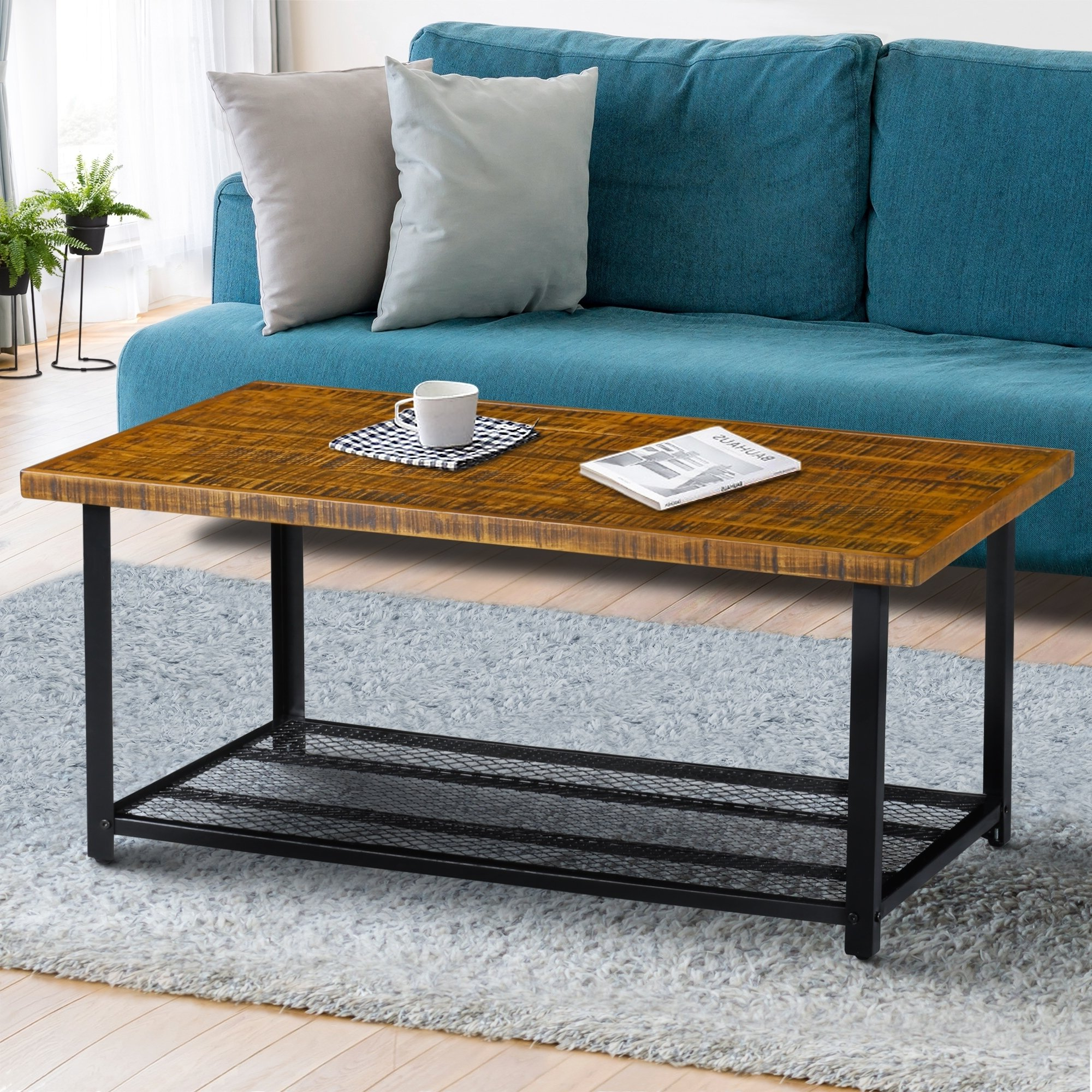 Pin On Products Throughout Preferred Carbon Loft Enjolras Wood Steel Coffee Tables (View 16 of 20)