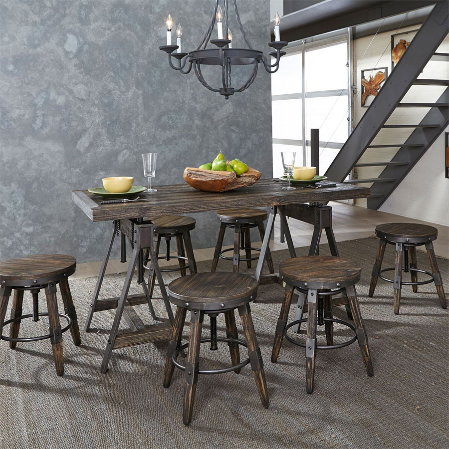 Pineville Adjustable Height Table Set Throughout Pineville Dining Sideboards (View 20 of 20)