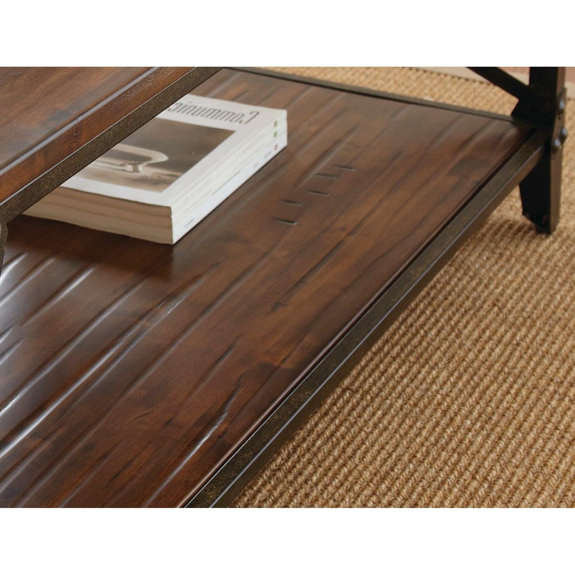 Popular Carbon Loft Kenyon Cube Brown Wood Rustic Coffee Tables Regarding Carbon Loft Fischer Brown Solid Birch And Iron Rustic Coffee Table (View 16 of 20)