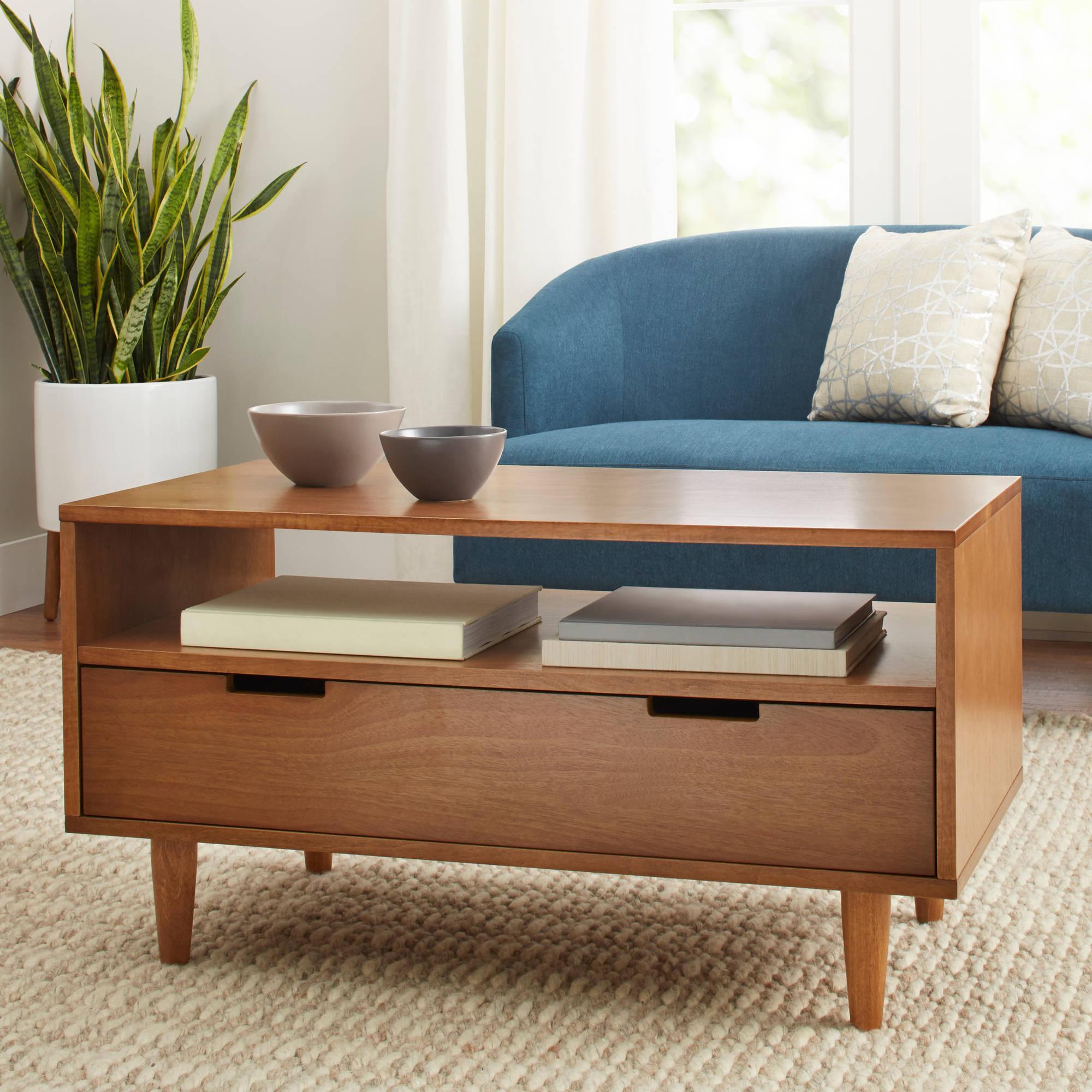 Popular Carson Carrington Astro Mid Century Coffee Tables Regarding Better Homes Gardens Flynn Mid Century Modern Coffee Table (View 16 of 20)