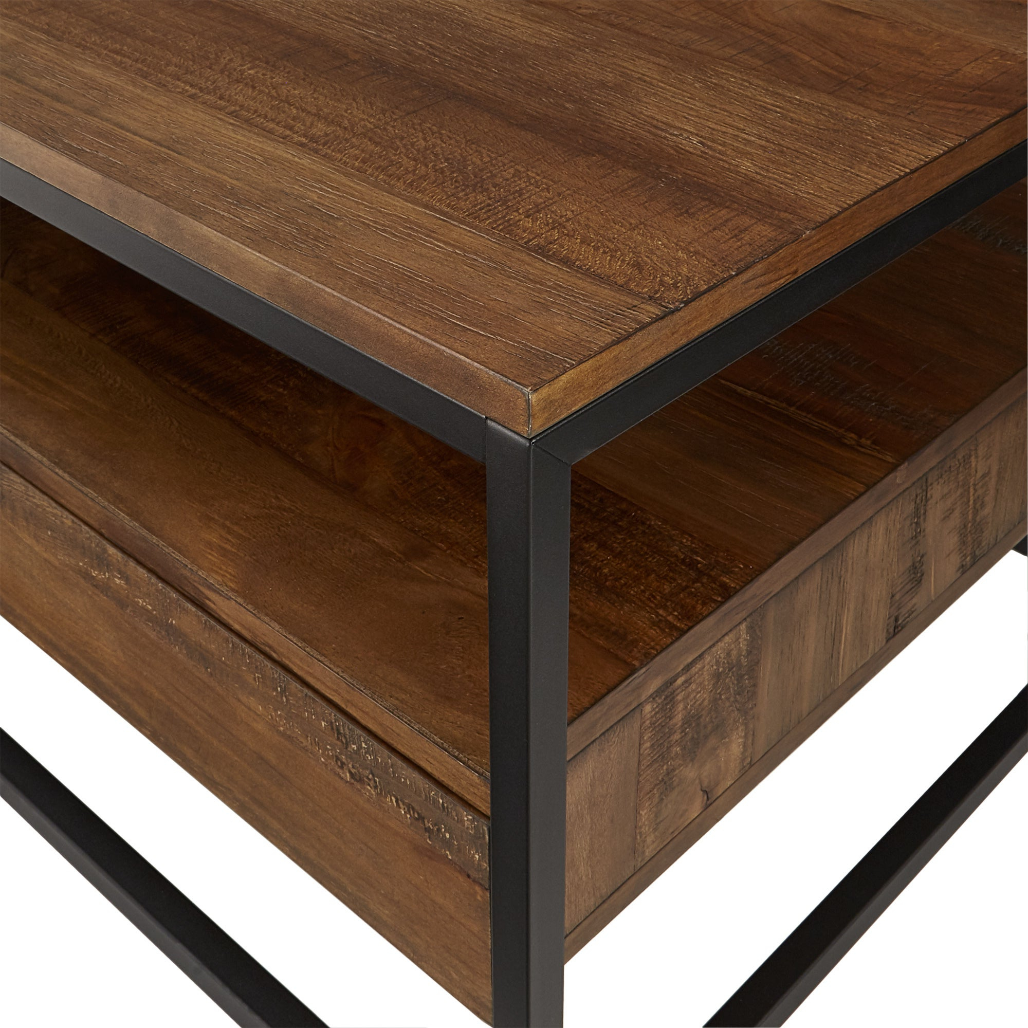 Popular Corey Rustic Brown Accent Tables Inside Corey Rustic Brown Accent Tablesinspire Q Modern (View 7 of 20)