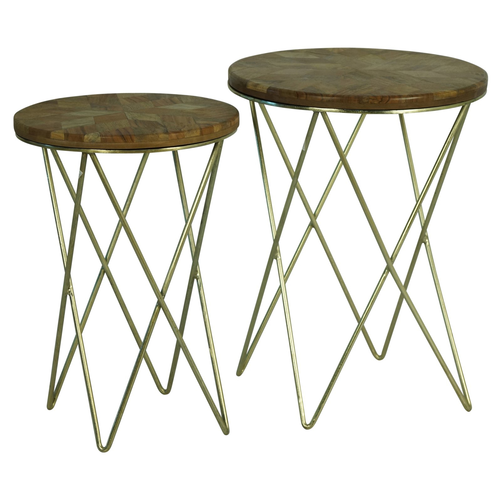 Popular Silver Orchid Henderson Faux Stone Round End Tables Intended For Sagebrook Home Wood Top Accent Table – Set Of (View 20 of 20)