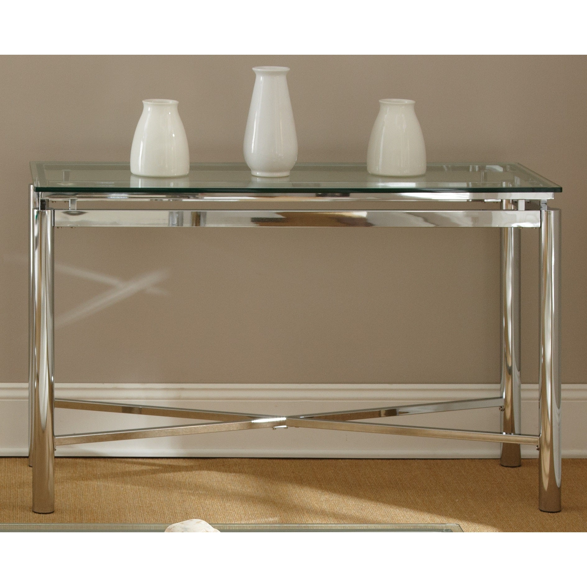 Featured Photo of Strick & Bolton Jules Chrome And Glass Coffee Tables