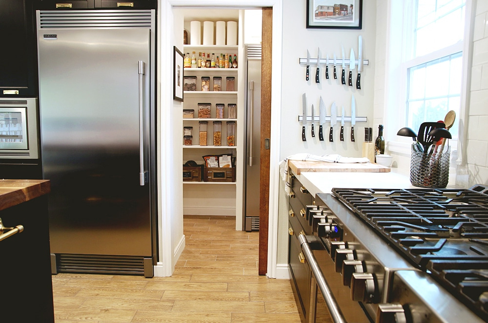 Popular The Finished Pantry! – Chris Loves Julia Throughout Casale Kitchen Pantry (View 16 of 20)