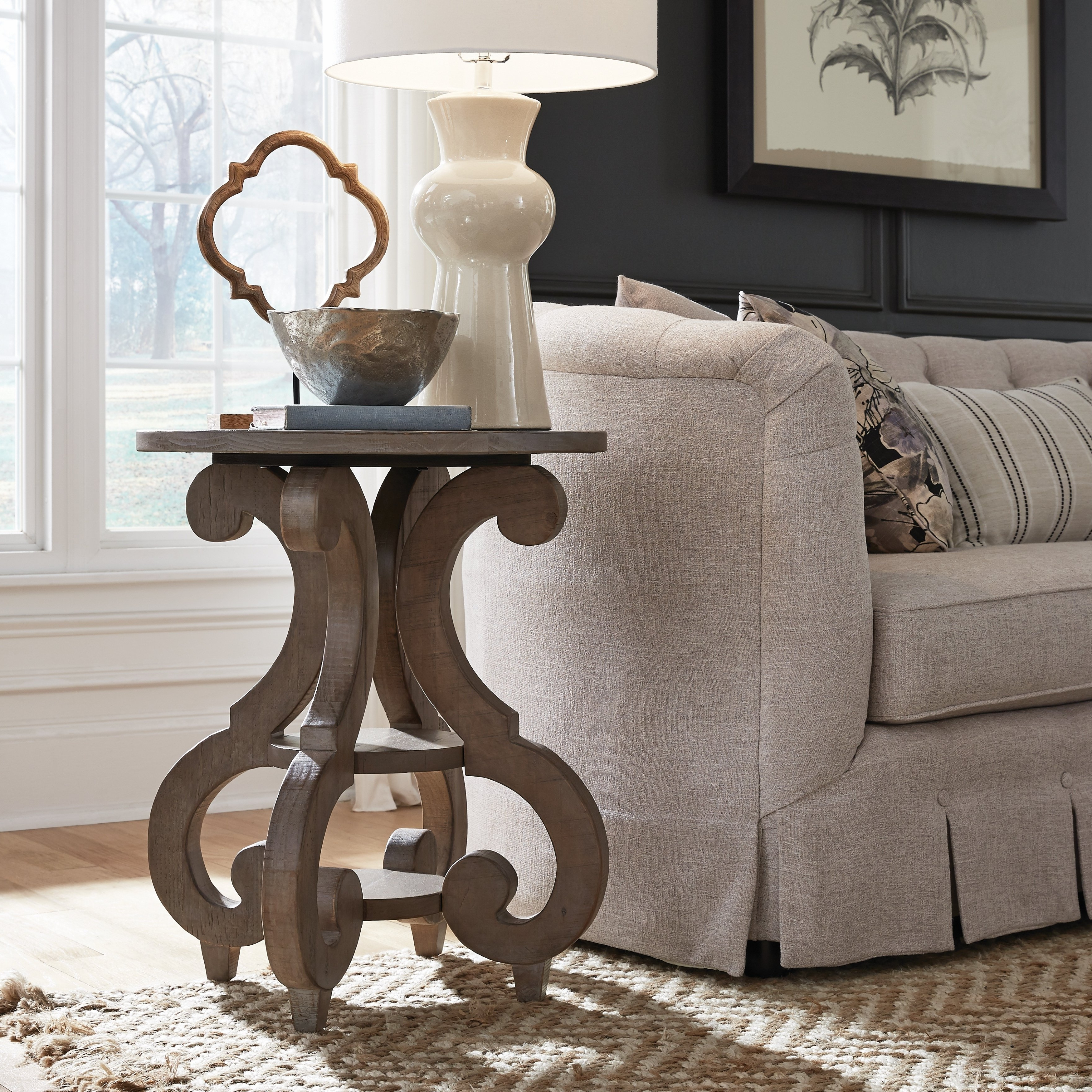 Popular Tinley Park Traditional Dove Tail Grey Coffee Tables With Tinley Park Traditional Dove Tail Grey Round Accent Table (View 18 of 20)