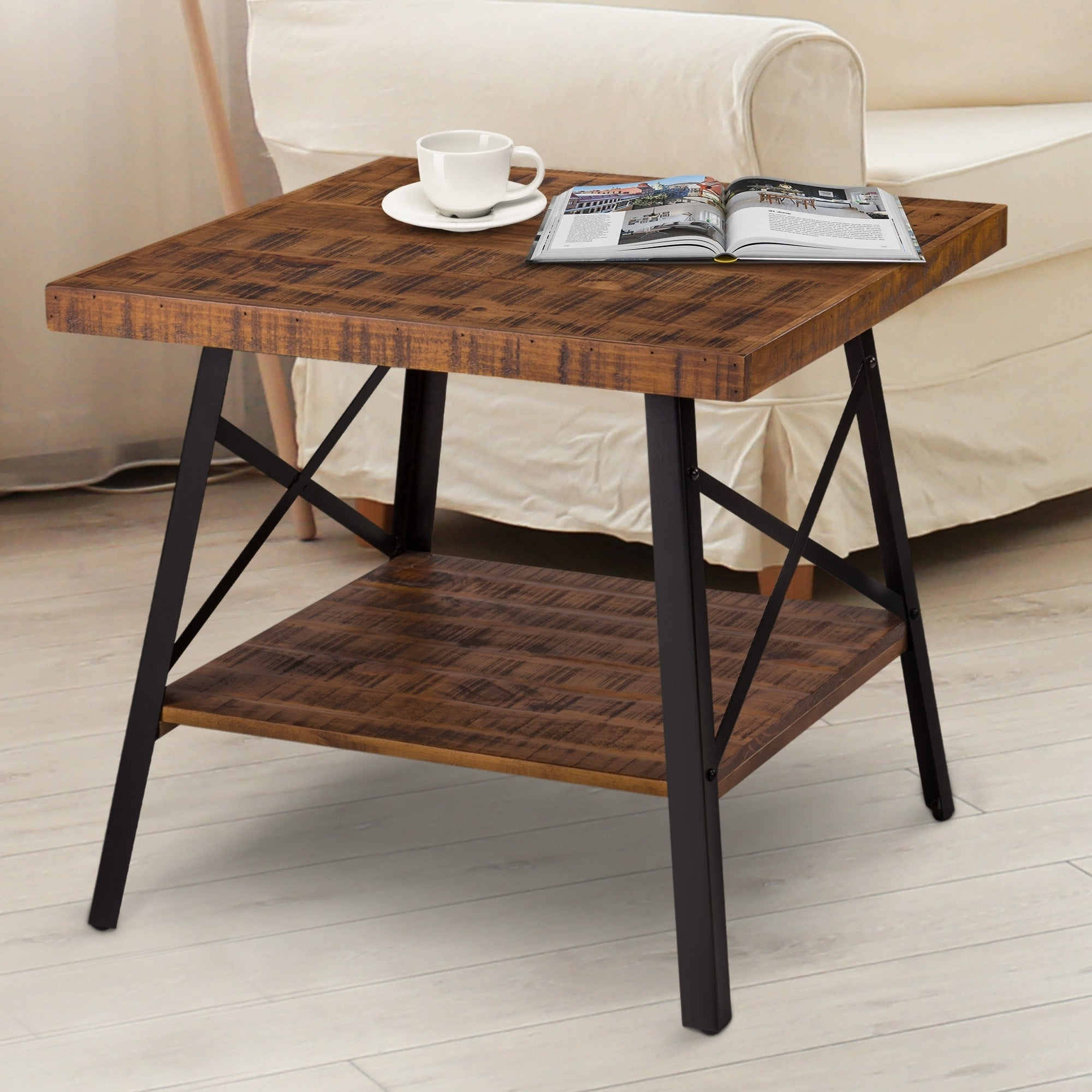 Featured Photo of Carbon Loft Enjolras Wood Steel Coffee Tables