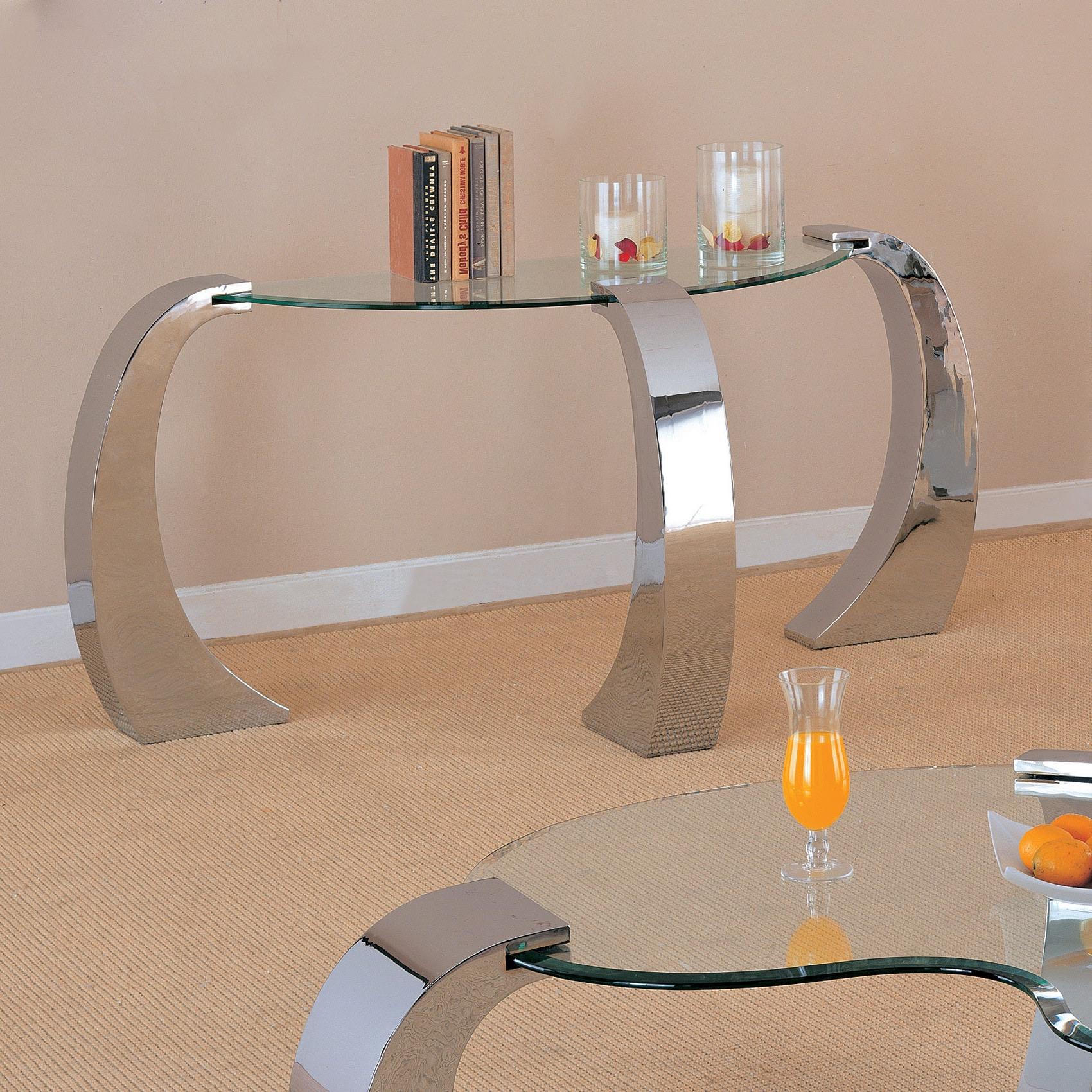 Preferred Coaster Company Silver Glass Coffee Tables With Coaster Company Silver Sofa Table (View 7 of 20)