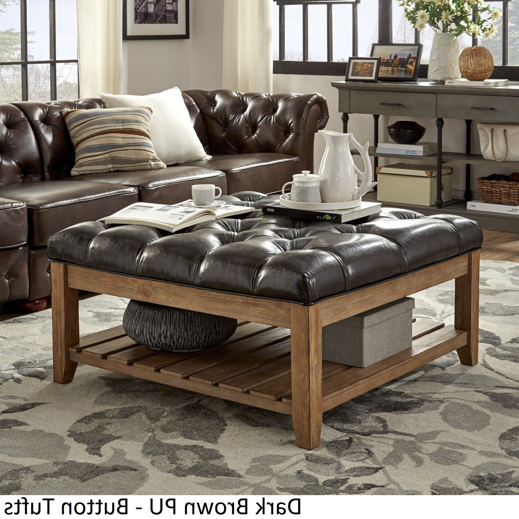 Preferred Lennon Pine Planked Storage Ottoman Coffee Tables Within Inspire Q Lennon Pine Planked Storage Ottoman Coffee Table (View 13 of 20)