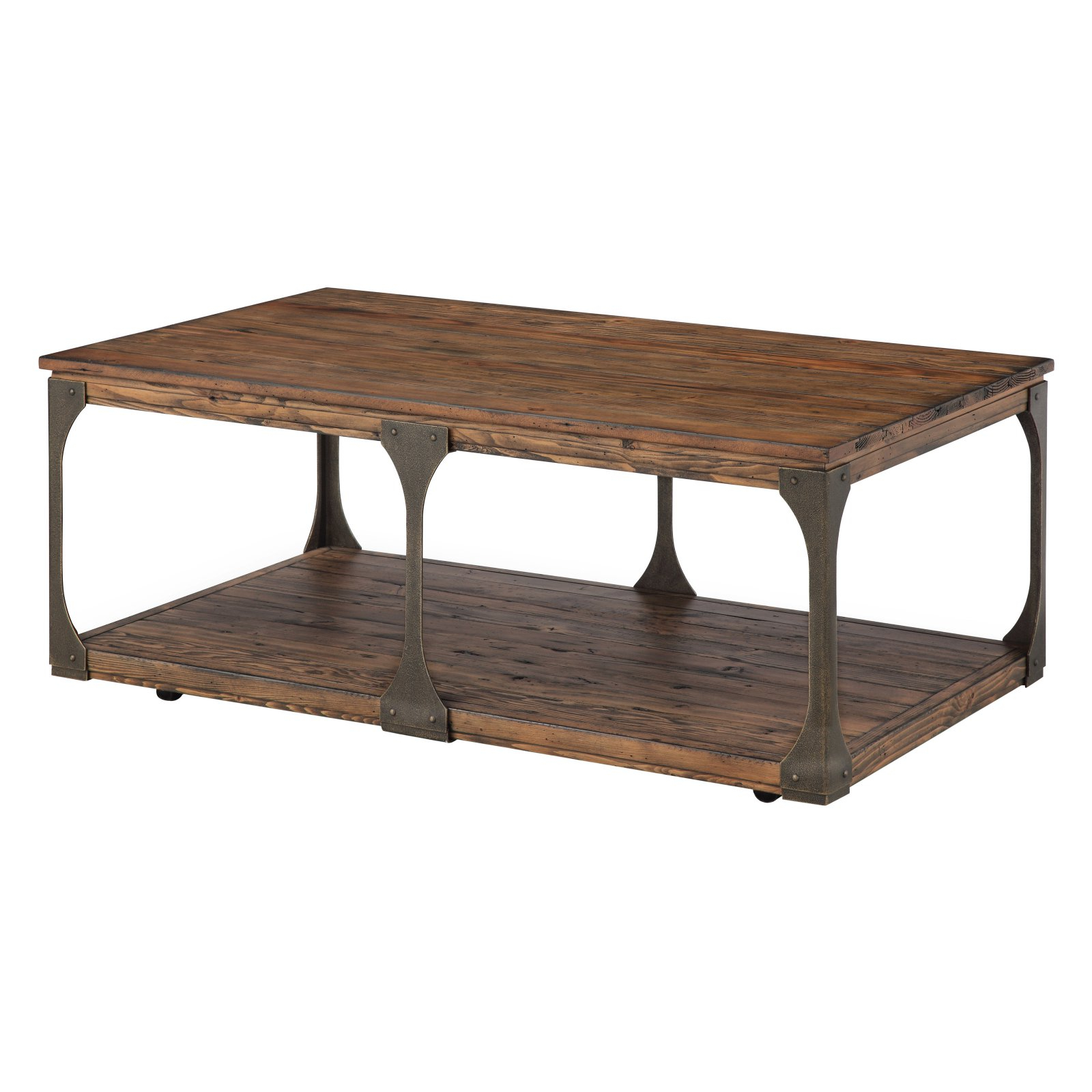 Preferred Montgomery Industrial Reclaimed Wood Coffee Tables With Casters With Magnussen Montgomery Reclaimed Wood Coffee Table With (View 16 of 20)