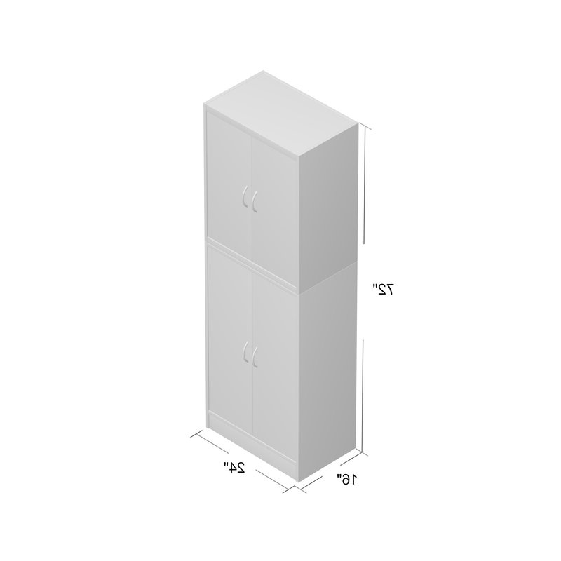 "Preferred Renteria 72"" Kitchen Pantry With Regard To Kitchen Pantry By Rebrilliant (View 12 of 20)"