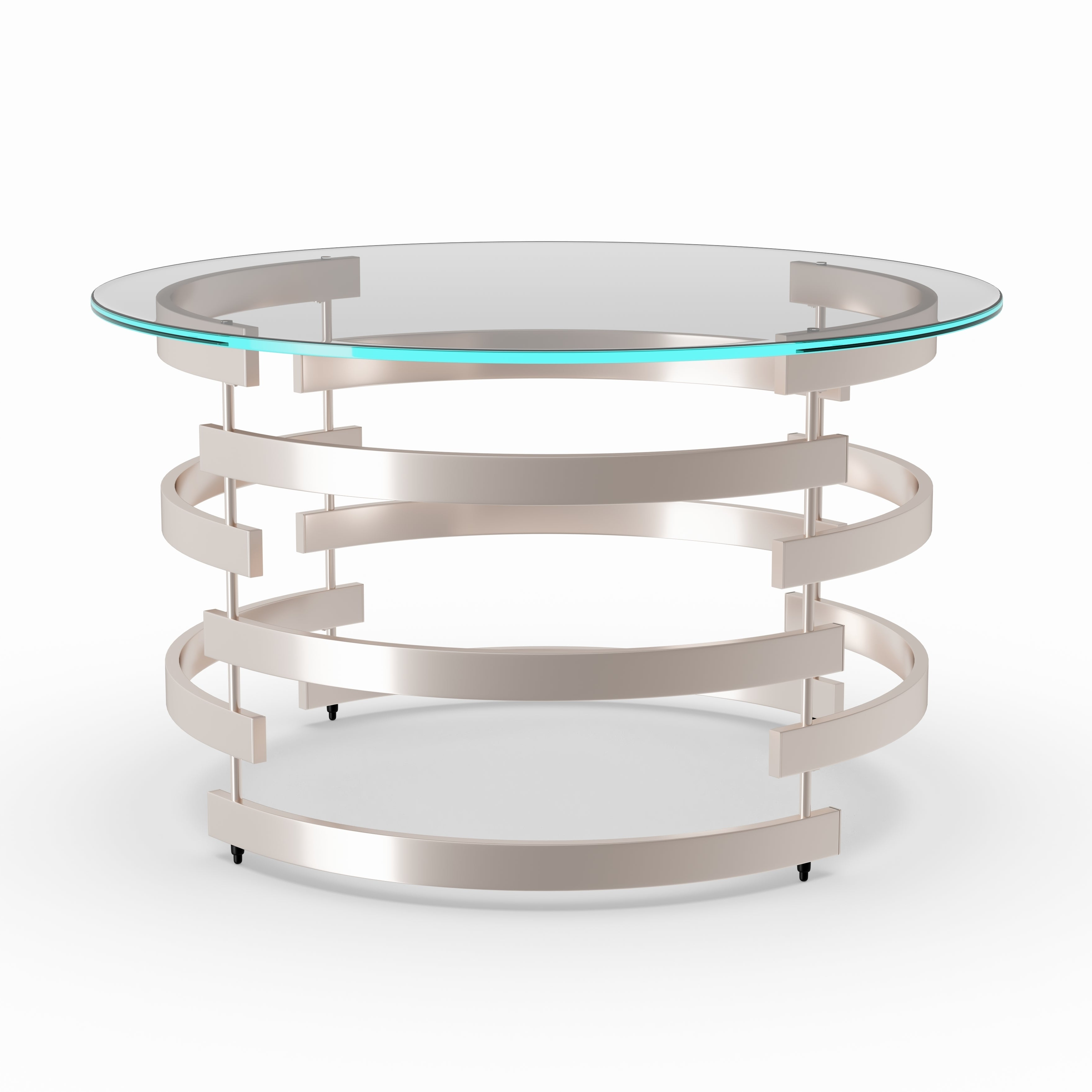 Preferred Silver Orchid Bardeen Round Coffee Tables With Silver Orchid Grant Cocktail/ Coffee Table (View 6 of 20)