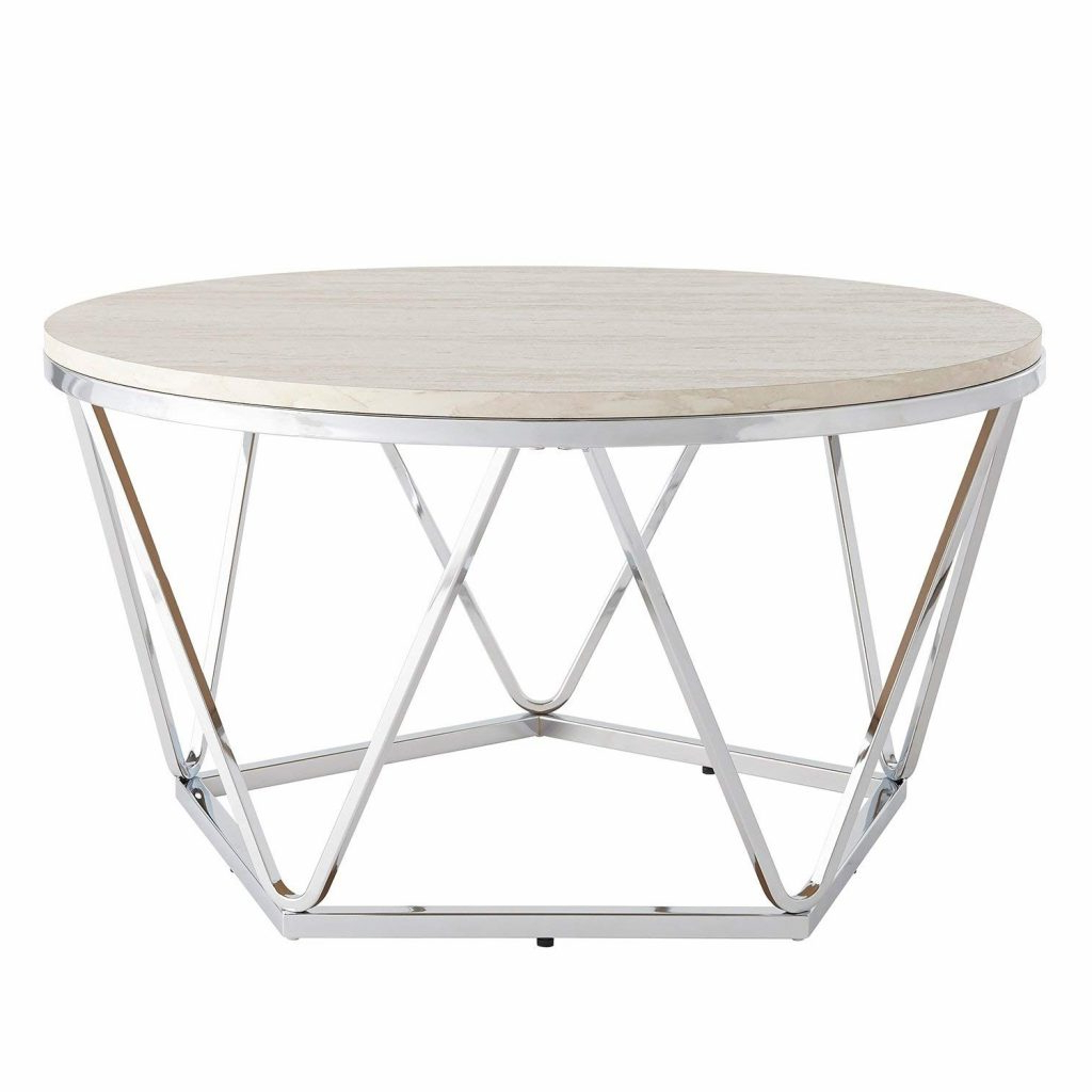 Preferred Silver Orchid Bardeen Round Coffee Tables Within Coffe Table ~ 3608sv 01xl Round Silver Coffee Table Photo (View 11 of 20)