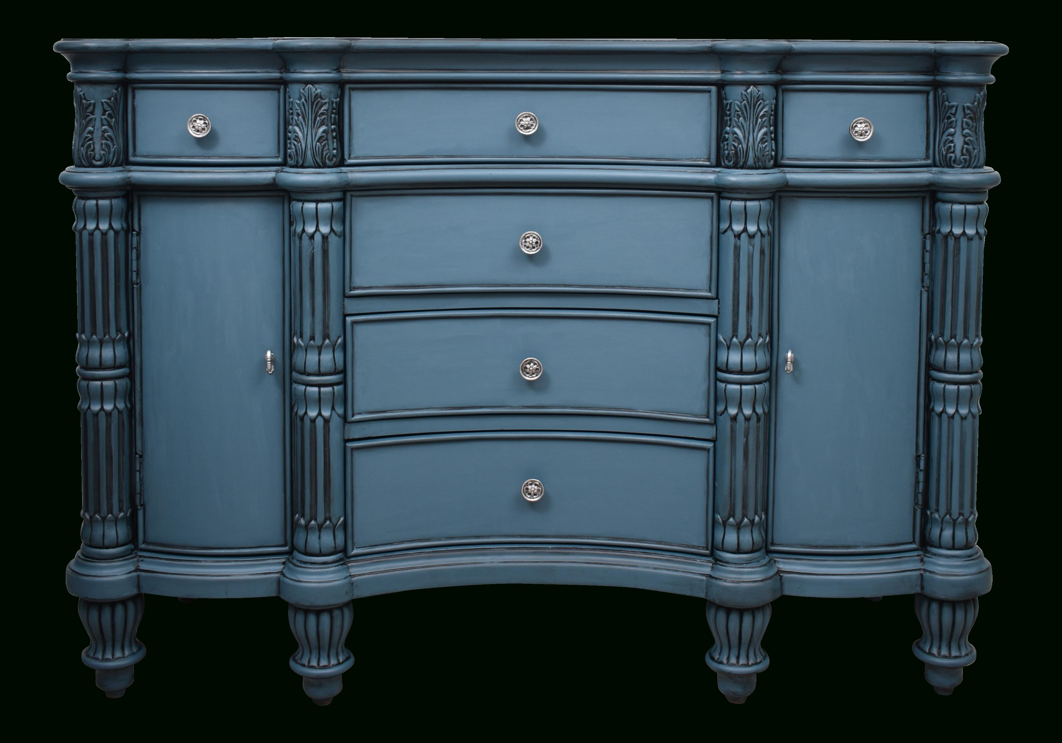 Pulaski Seaside Blue Credenza Buffet Cupboard Chest On For Kendall Sideboards (View 13 of 20)