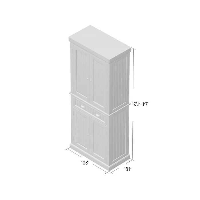 """Rabin 72"""" Kitchen Pantry For Well Known Rabin Kitchen Pantry (View 7 of 20)"""