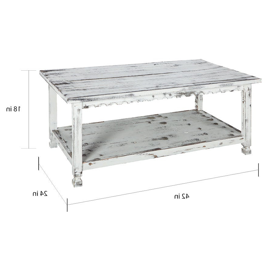Featured Photo of Alaterre Country Cottage Wooden Long Coffee Tables
