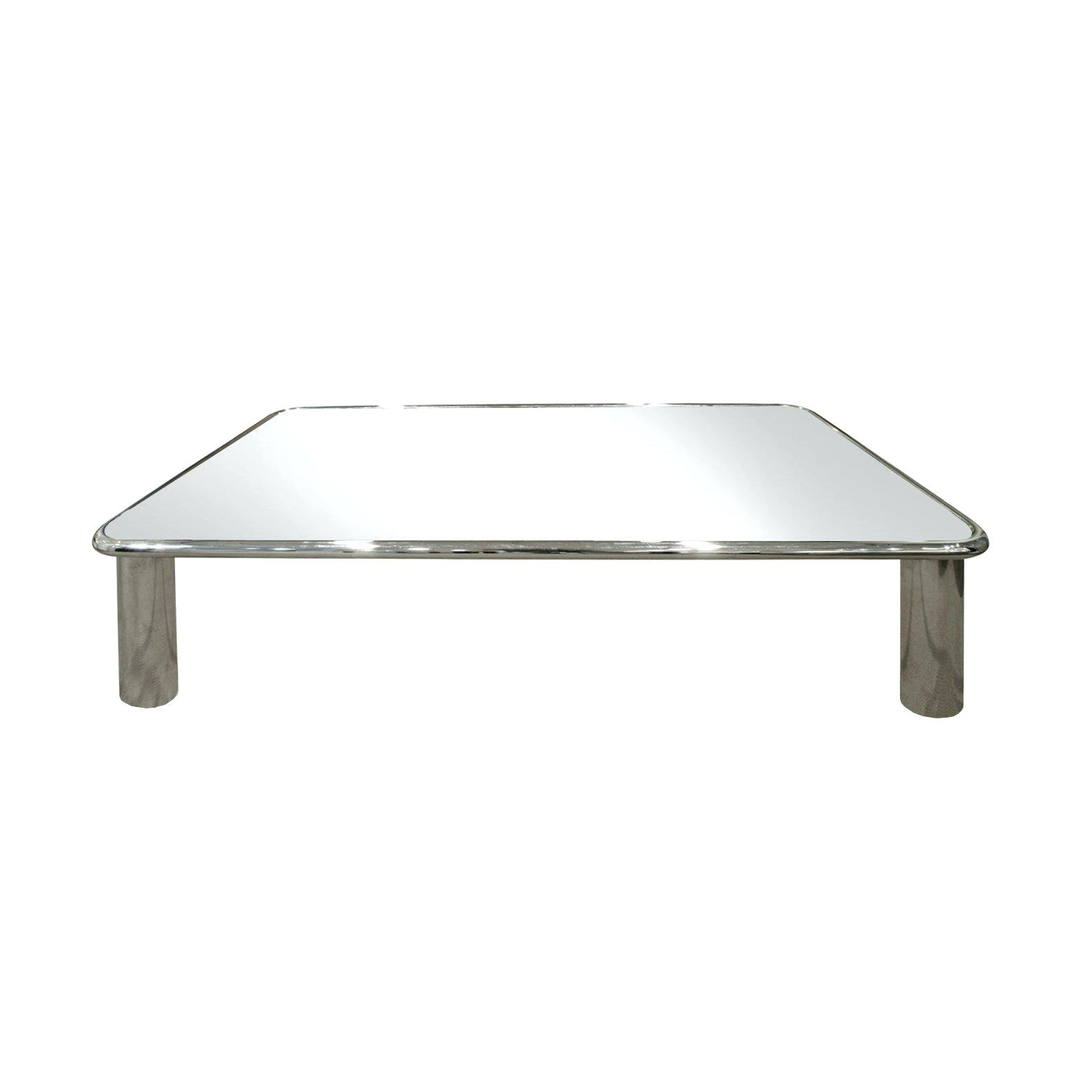 Recent Contemporary Chrome Glass Top And Mirror Shelf Coffee Tables Pertaining To Glass Chrome Coffee Table – Aulamintic (View 17 of 20)