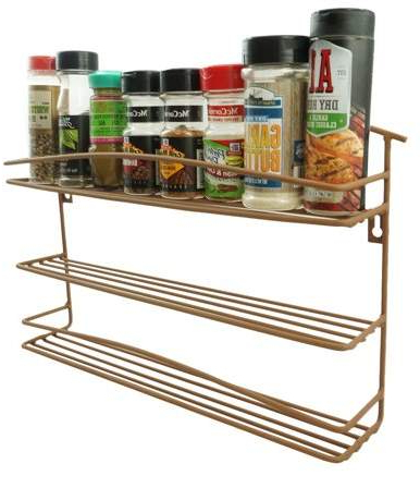 "Recent K Cliffs Wall Mount 3 Tier Metal Spice And Grinder Rack Kitchen Metal 2.5"" Spice Organizer Pantry Cabinet Hanging (View 18 of 20)"