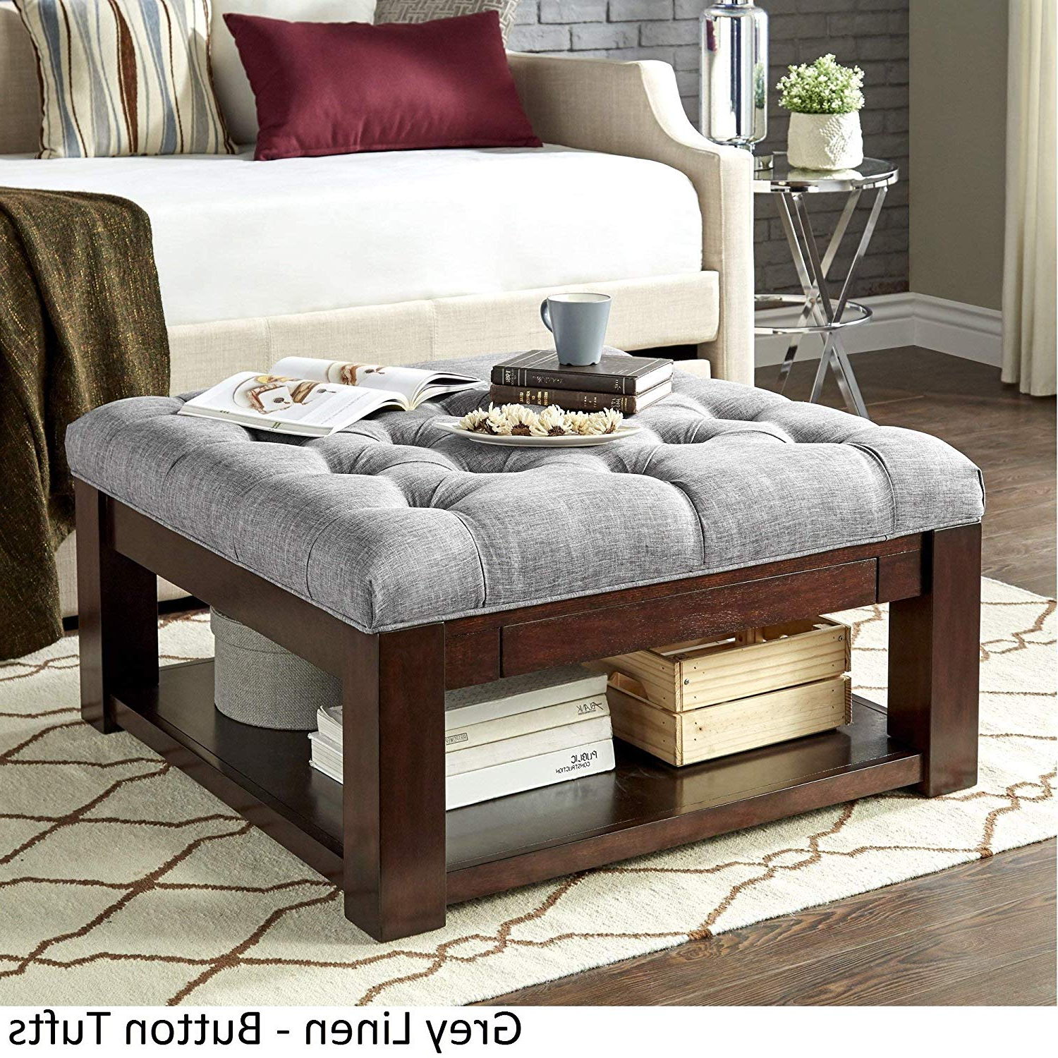 Recent Lennon Pine Planked Storage Ottoman Coffee Tables Pertaining To Storage Ottoman Coffee Table – Andrewab.co (View 14 of 20)