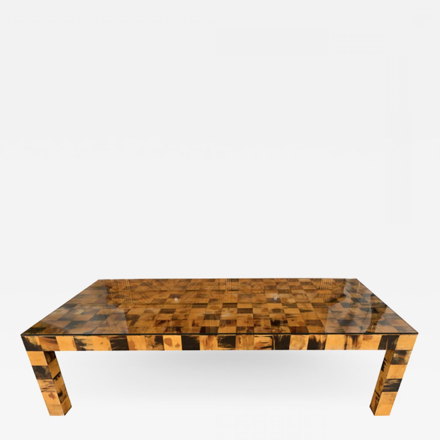 Recent Lockwood Rectangle Coffee Tables For Rectangular Inlaid Horn Veneer Coffee Table (View 17 of 20)