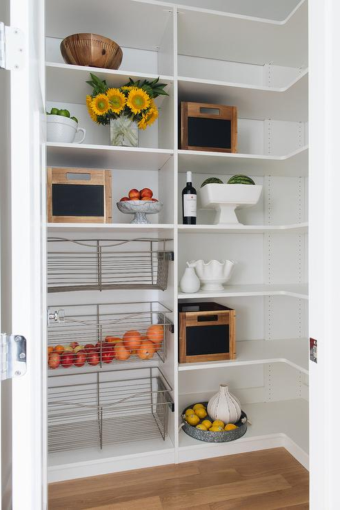 Recent Small Kitchen Pantry With Pull Out Metal Vegetable Bins Pertaining To Metal Kitchen Pantry (View 20 of 20)