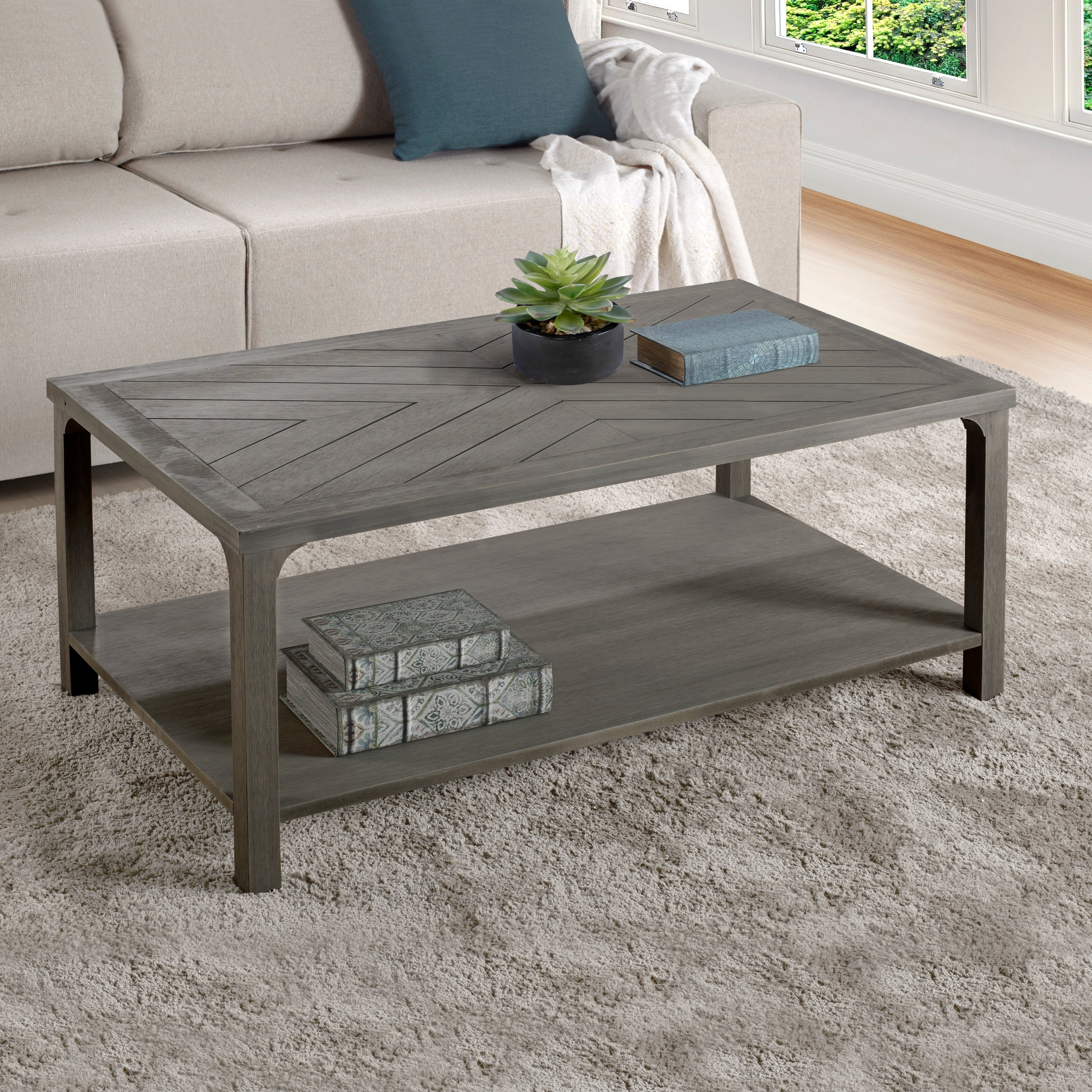 Recent The Gray Barn Kujawa Metal X Coffee Tables – 40 X 22 X 18h With Regard To The Gray Barn Kujawa Chevron Coffee Table – 42 X 24 X 18h (View 16 of 20)