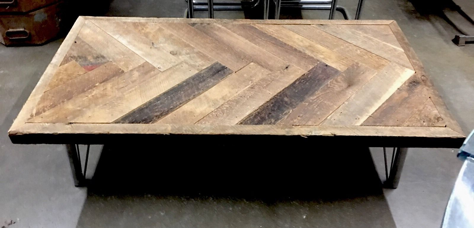 Reclaimed Wood Coffee Table Rustic Metal Furniture Real Wooden Handcrafted Intended For Widely Used Carbon Loft Kenyon Cube Brown Wood Rustic Coffee Tables (View 17 of 20)