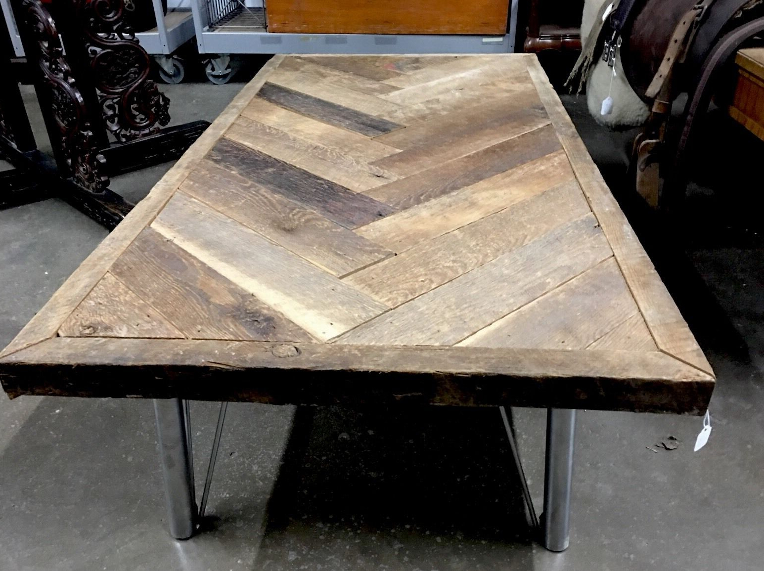 Reclaimed Wood Coffee Table Rustic Metal Furniture Real Wooden Handcrafted Throughout Fashionable Carbon Loft Kenyon Cube Brown Wood Rustic Coffee Tables (View 18 of 20)