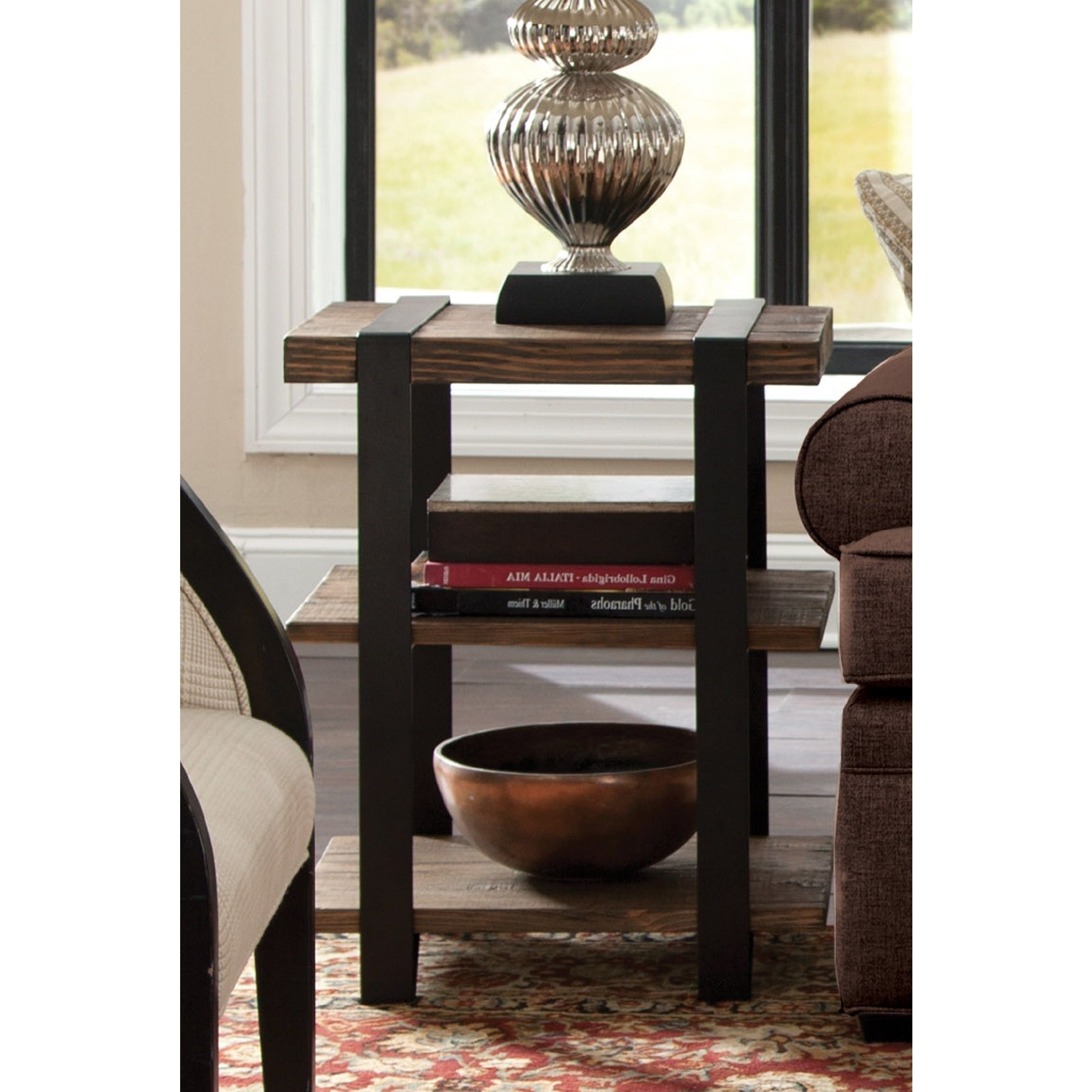 Reclaimed Wood Rustic Media Console Home Goods: Free Pertaining To Well Known Carbon Loft Kenyon Natural Rustic Coffee Tables (View 9 of 20)