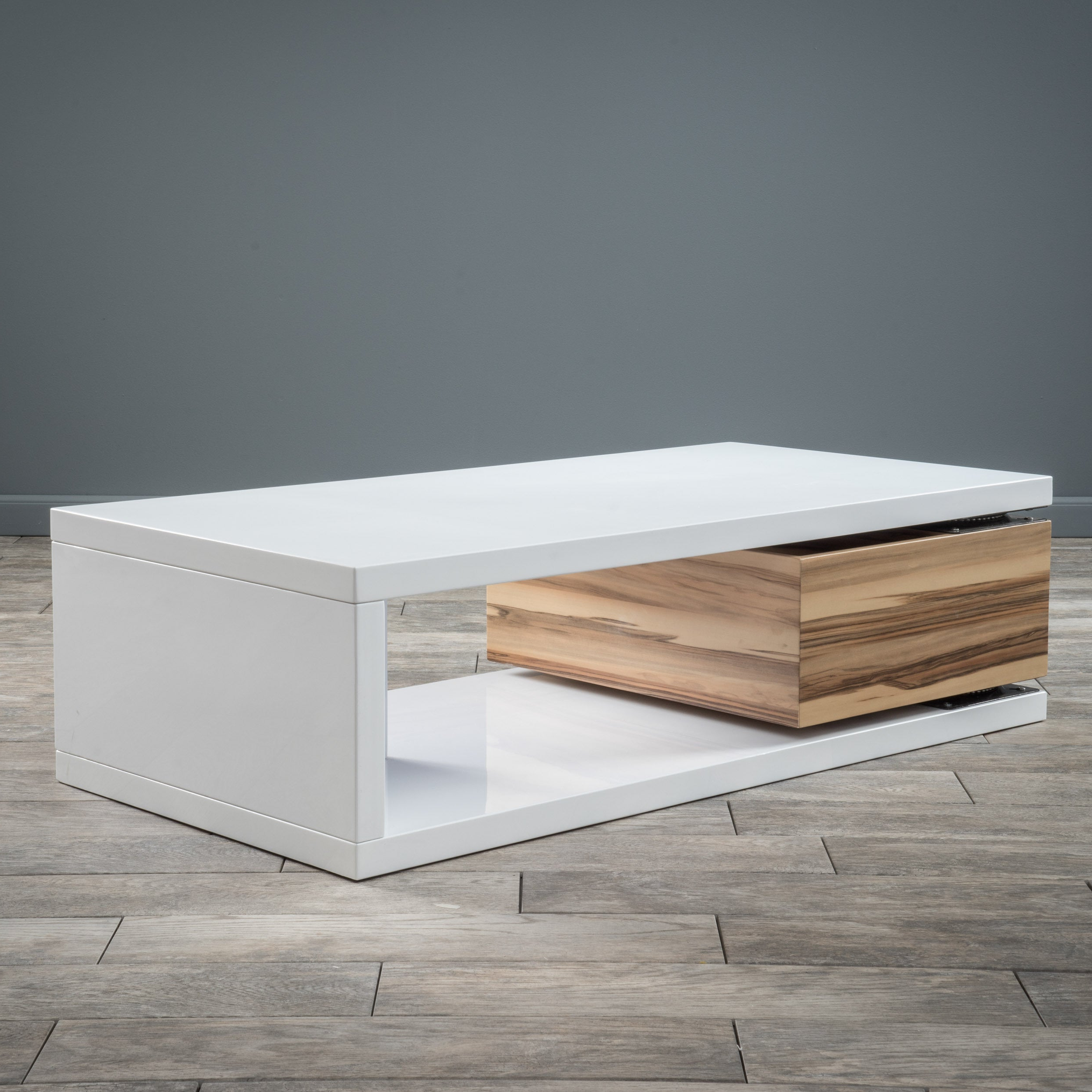 Rectangular Mod Rotatable Coffee Tablechristopher Knight White With Regard To Recent Finbar Modern Rectangle Glass Coffee Tables (View 16 of 20)