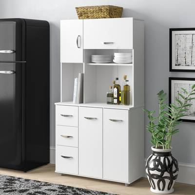 Red Barrel Studio Amaia 3 Piece Kitchen Pantry (View 14 of 20)