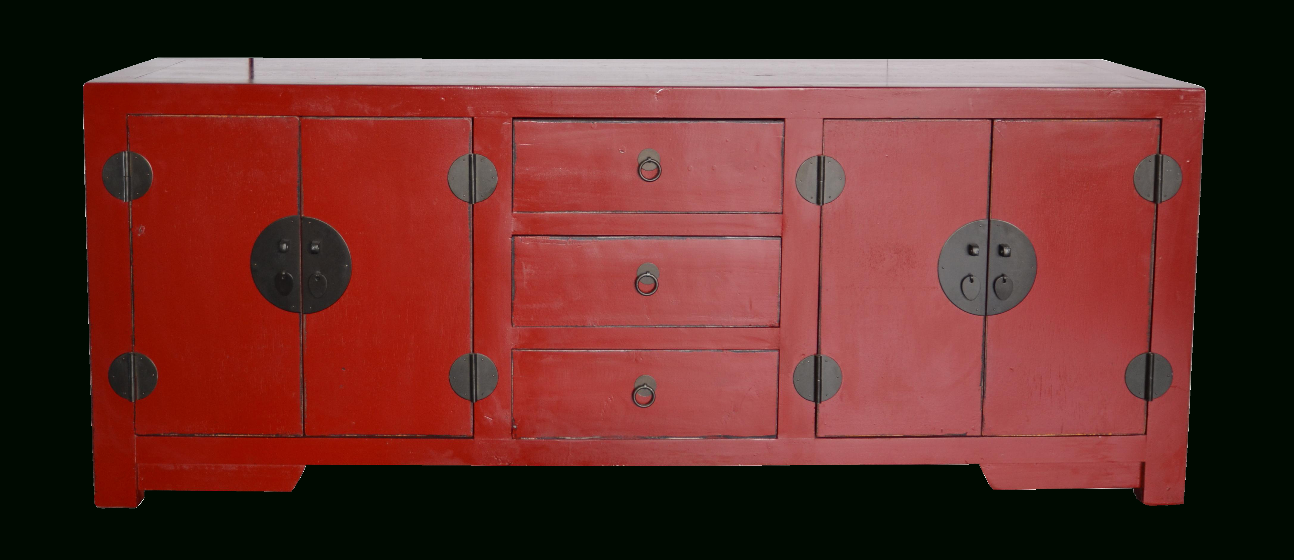 Red Lacquer Chinese Buffet | Fabulous Furnishings | China Within Giulia 3 Drawer Credenzas (View 10 of 20)
