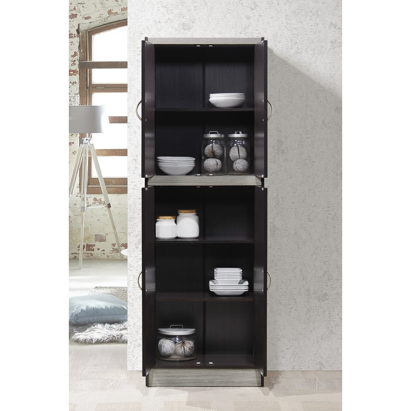 "Renteria 72"" Kitchen Pantry Intended For Trendy Kitchen Pantry By Rebrilliant (View 5 of 20)"