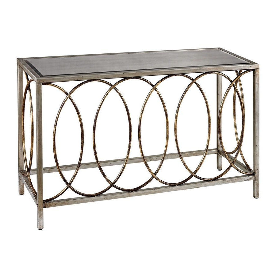Rings Console Table With Mirrored Top (View 13 of 20)