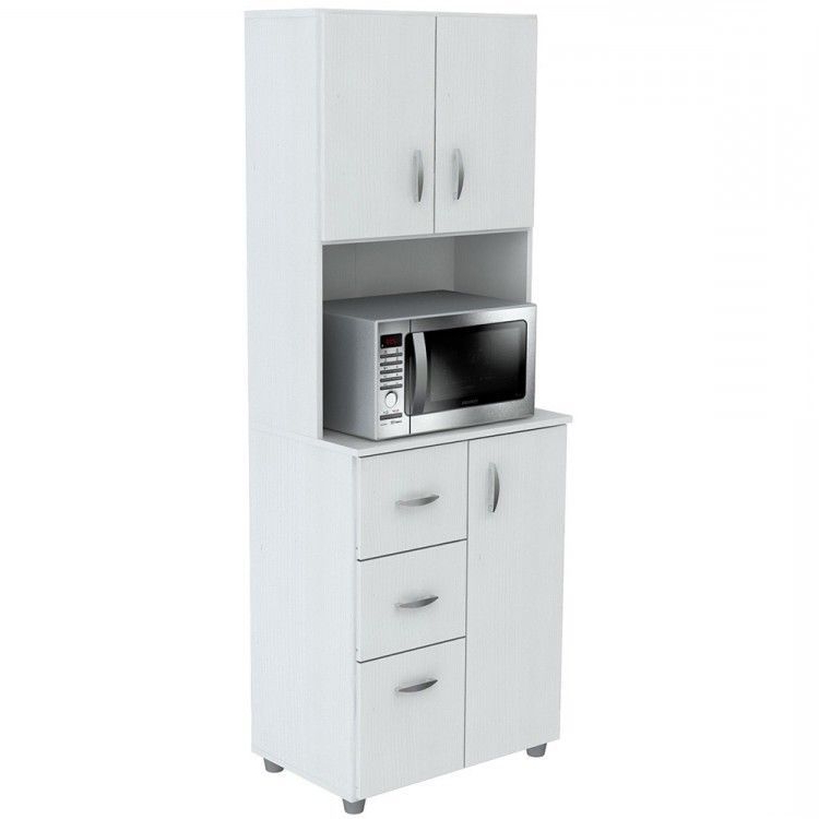Rolling Kitchen Microwave Cart Tall Kitchen Storage Cabinet In Well Known Blandy Kitchen Pantry (View 11 of 20)
