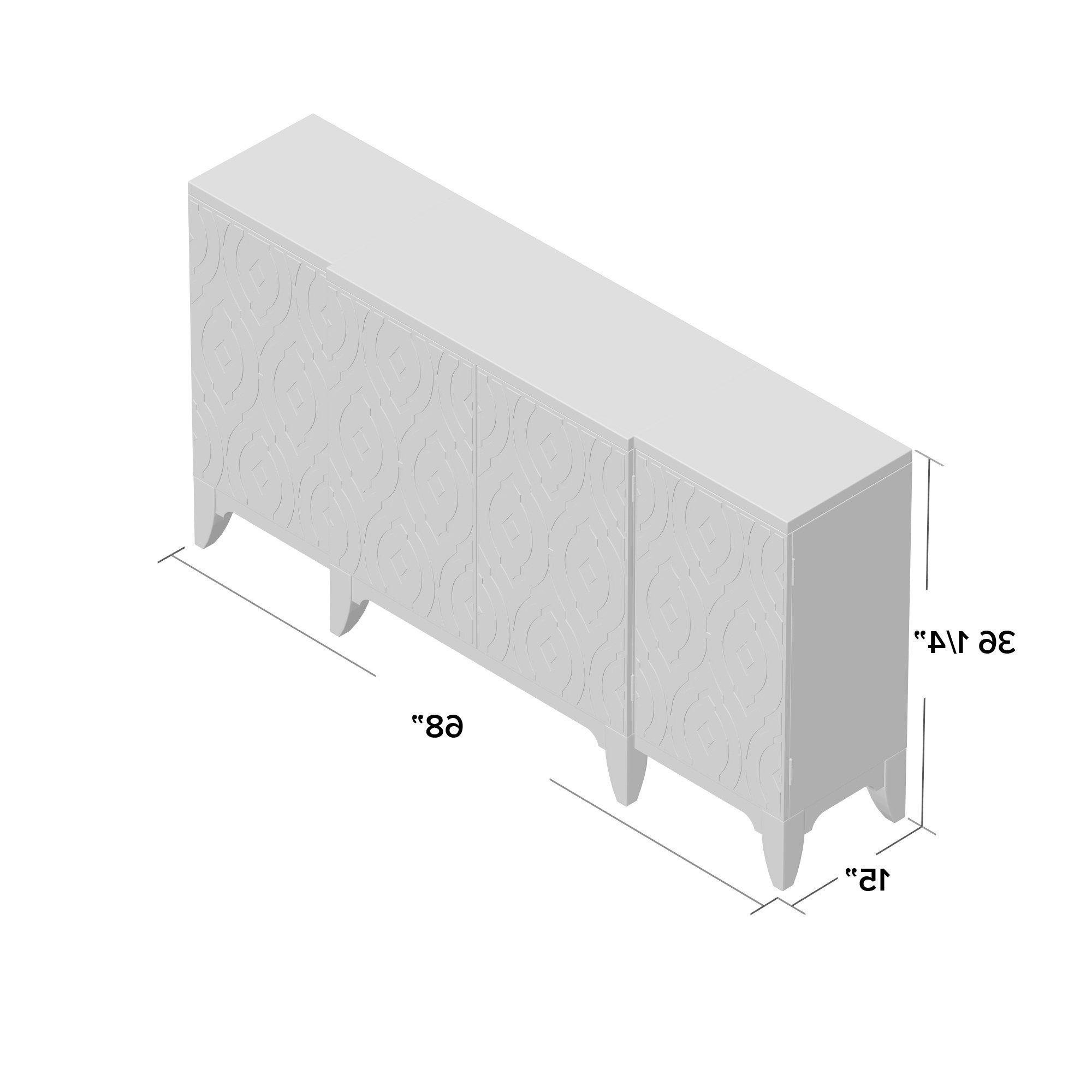 Rosdorf Park Kattie 4 Door Accent Cabinet Intended For Kattie 4 Door Cabinets (View 17 of 20)