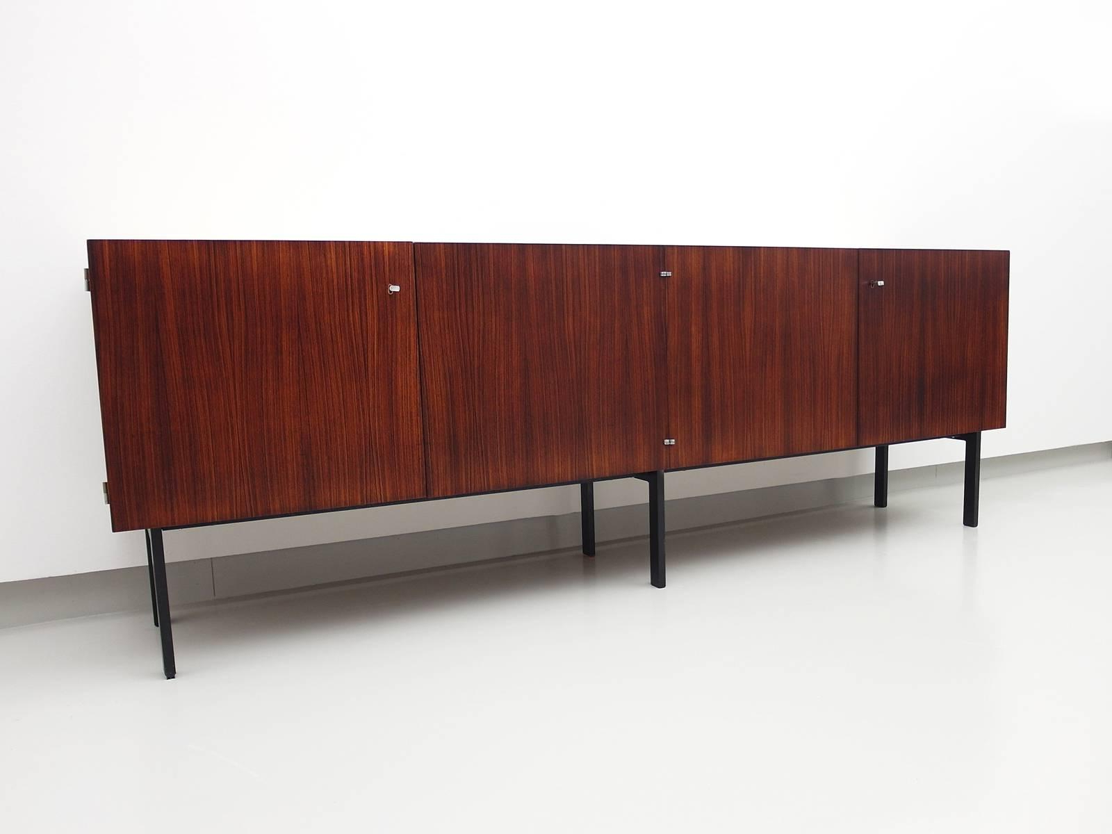Rosewood Sideboard Attributed To Etienne Fermigier For Meubles Et Fonction, 1961 Pertaining To Etienne Sideboards (View 9 of 20)